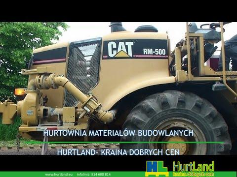 Naprawa asfaltu – CAT RM-500 Road Reclaimer w akcji – Frezarka do asfaltu