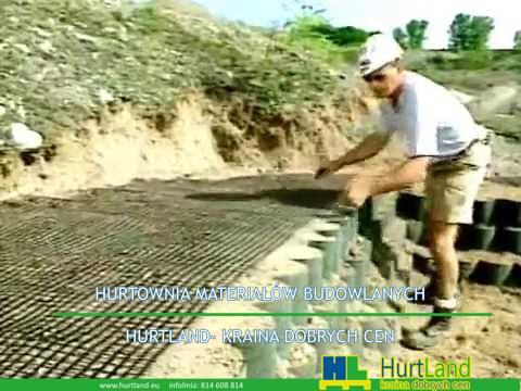 Jak zainstalować geocentryczną warstwę geosyntetyczną w ścianie geokomórki GEOWEB®