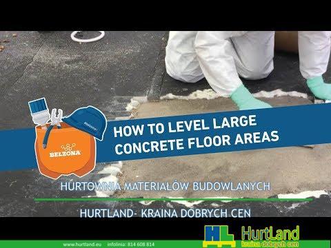 Jak wyrównać duże powierzchnie betonowe z Belzona 4154