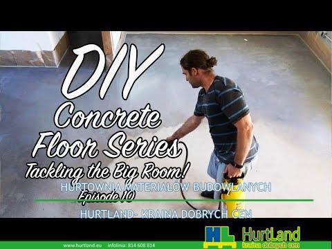 DIY Concrete Floor Series – EP10 – Zwalczanie dużego pomieszczenia