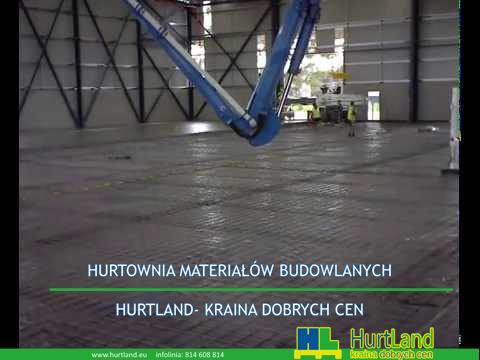 Napełnianie i układanie posadzek betonowych magazynu / płyty 1 część 1