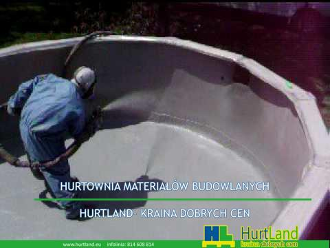 NTH Construction, Springtown TX, pollyurea CR 911 stosowana do nadziemnego basenu basenu.