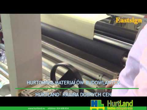 Maszyna do powlekania tekstylnego Wideo podawana z bawełny