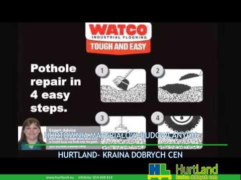 Naprawa asfaltu – Jak łatwo naprawiać dziury i łatać asfalt za pomocą Watco Floor  's Asphalt Repair Patch