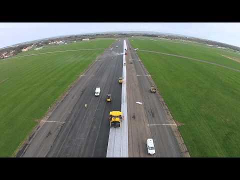 Instalacja geosyntetyczna – RNAS Daedelus Runway – Foster Contracting