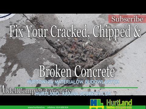 Jak naprawić lub naprawić wykruszenia i pęknięcia w betonie