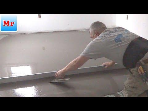 Jak wyrównać podłogę za pomocą samopoziomującego się betonu MrYoucandoityourself