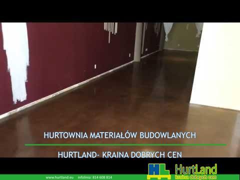 Barwione i polerowane podłogi betonowe