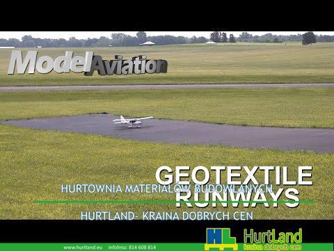 Pas startowy dla modeli samolotów wykonany z geowłókniny