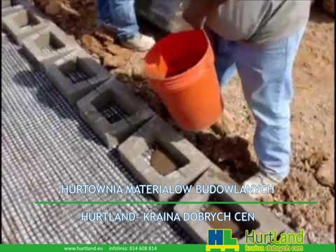 Budowa muru oporowego z prefabrykatów